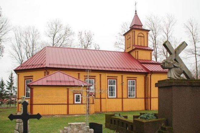 Алксненай ул. Церковь Успения Девы Марии